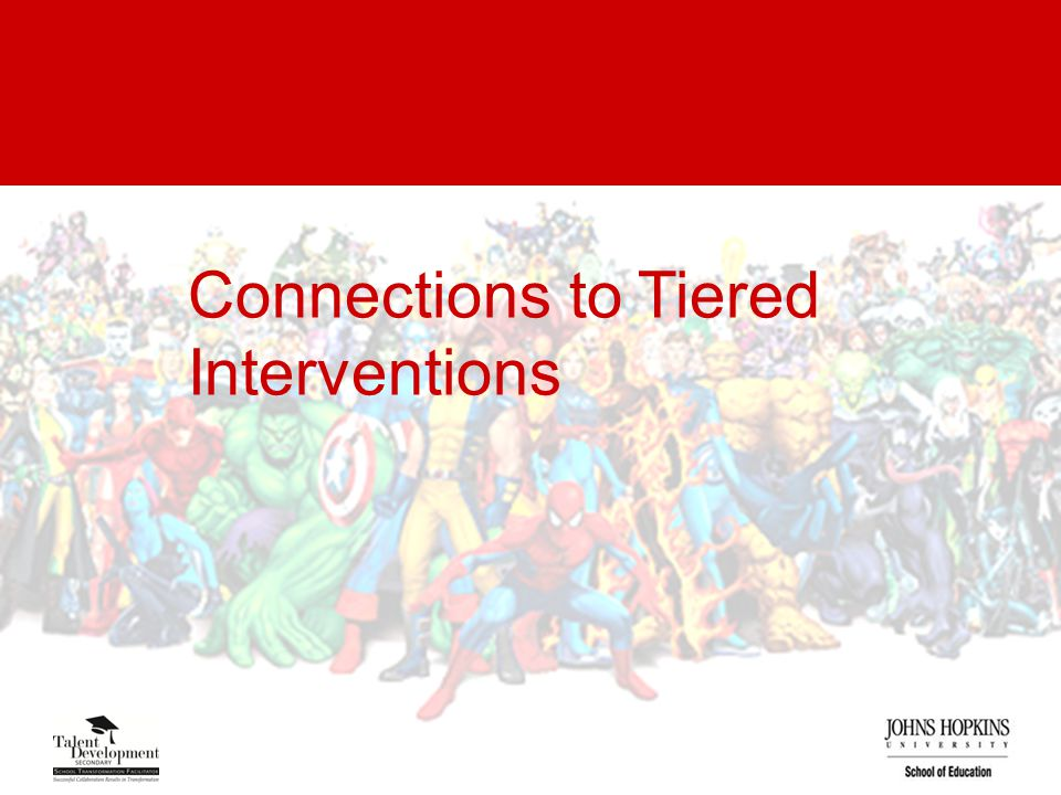 Connections to Tiered Interventions