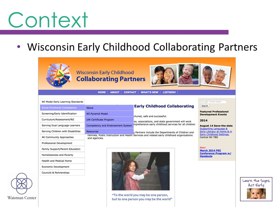 Context Wisconsin Early Childhood Collaborating Partners
