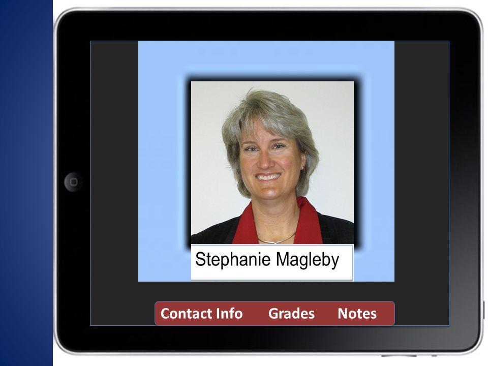 Contact Info Grades Notes