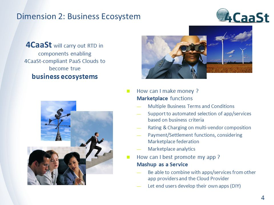 Dimension 2: Business Ecosystem 4 How can I make money .