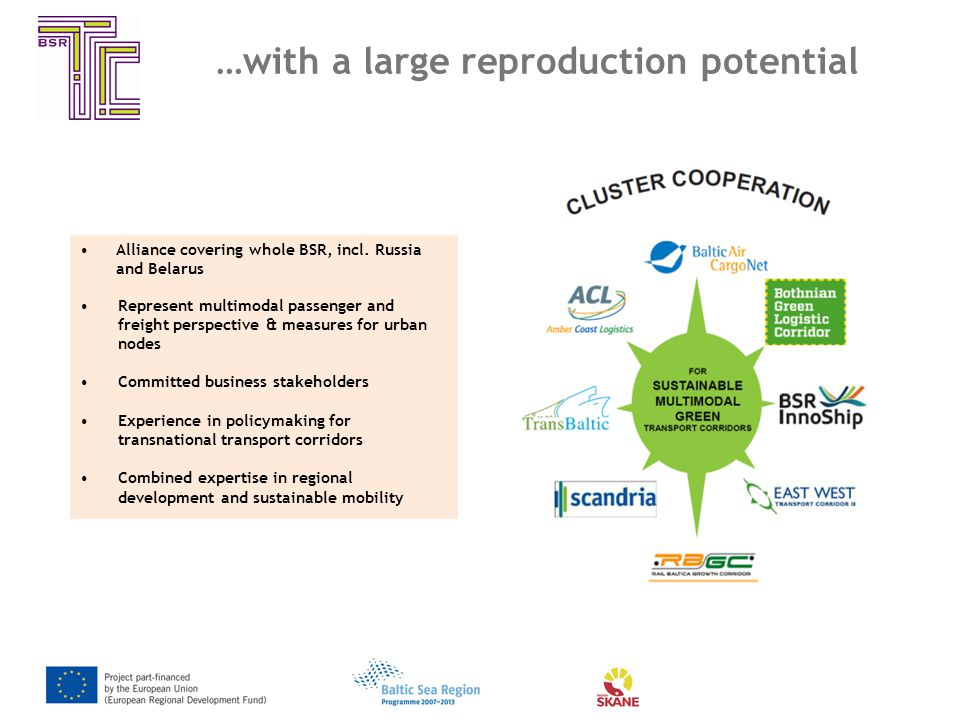 …with a large reproduction potential Alliance covering whole BSR, incl.