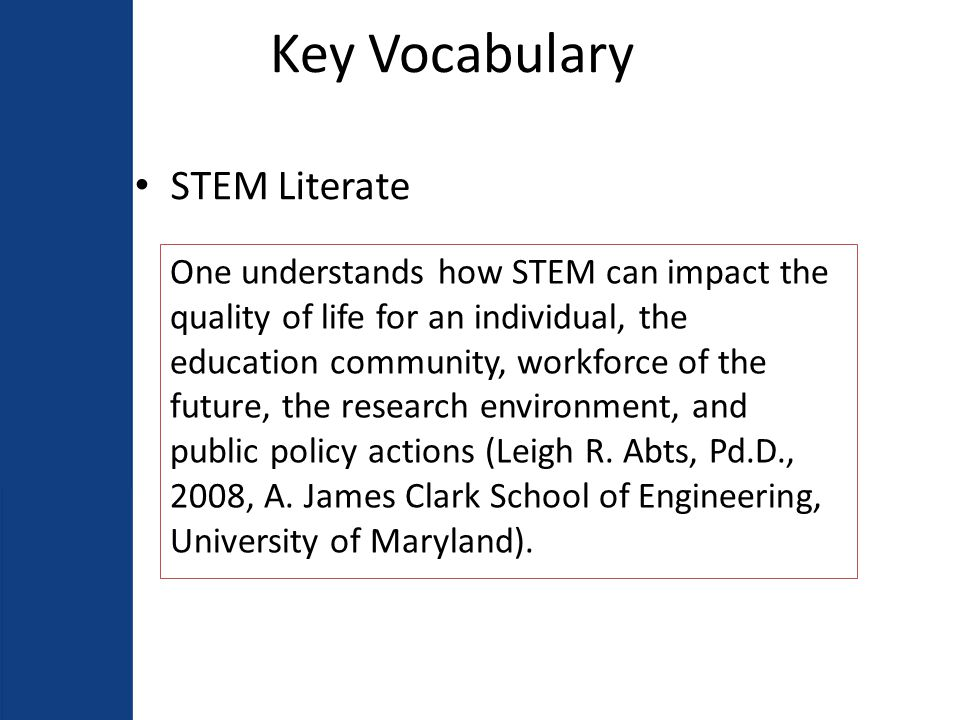 Key Vocabulary Curriculum Alignment Curriculum that is backloaded from the THECB- CCRS and external state and national assessments to ensure vertical and horizontal alignment of content, context, and cognitive levels in the written, taught, and tested curriculum.