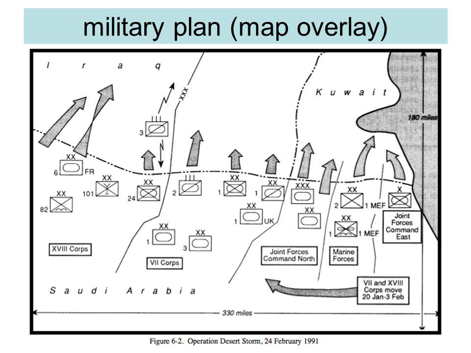 military plan (map overlay)