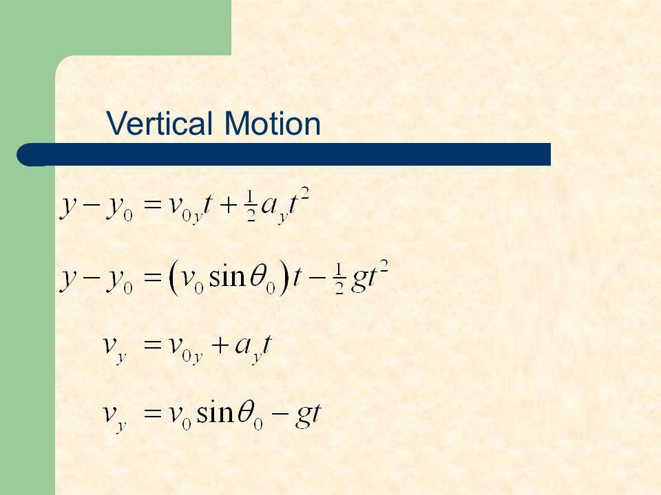 Horizontal Motion