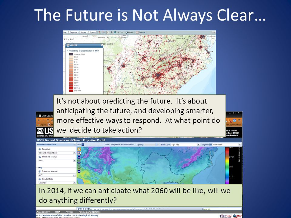 The Future is Not Always Clear… It's not about predicting the future.