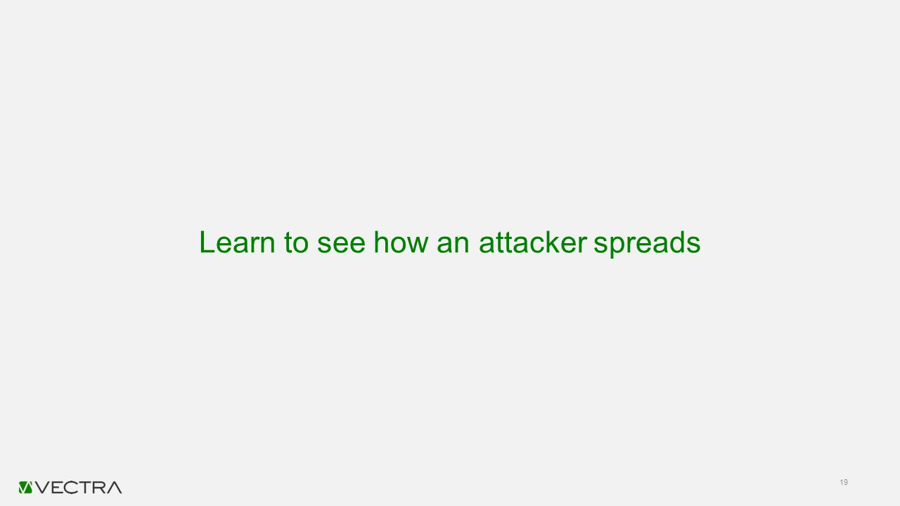 Learn to see how an attacker spreads 19