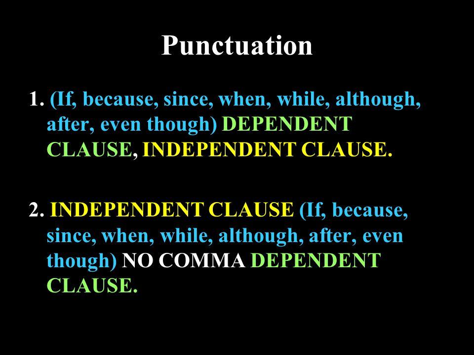 Punctuation 1.
