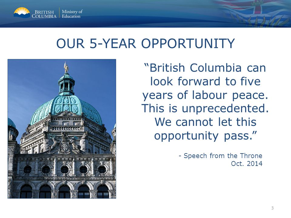 British Columbia can look forward to five years of labour peace.