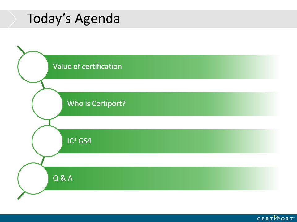 IC 3 Growth IC 3 is one of the fastest Growing Certifications in the World