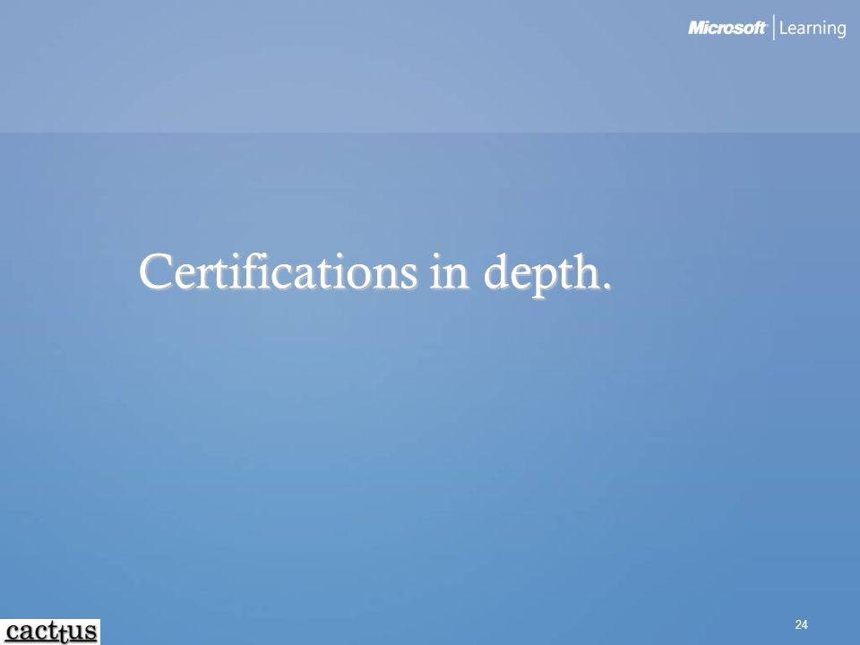 24 Certifications in depth.