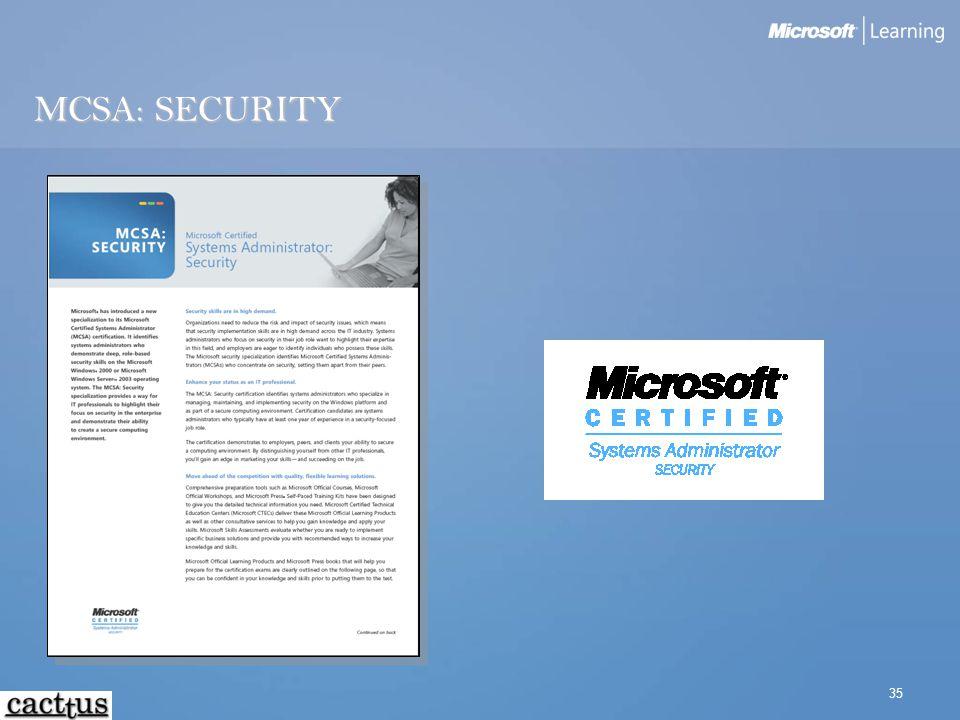 35 MCSA: SECURITY