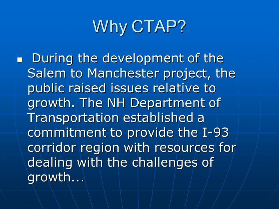 CTAP will serve a region of 26 cities and towns