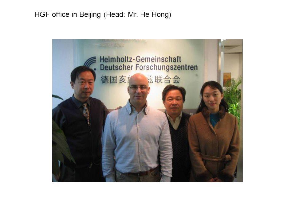HGF office in Beijing (Head: Mr. He Hong)
