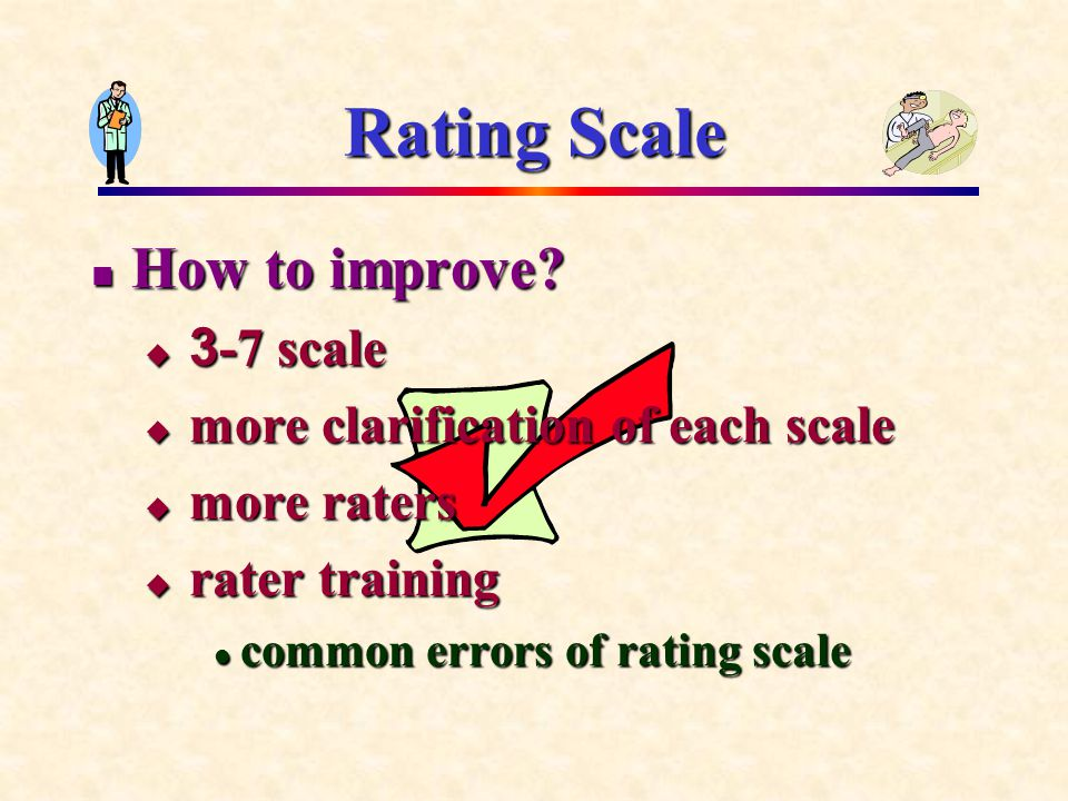 Rating Scale How to improve.How to improve.
