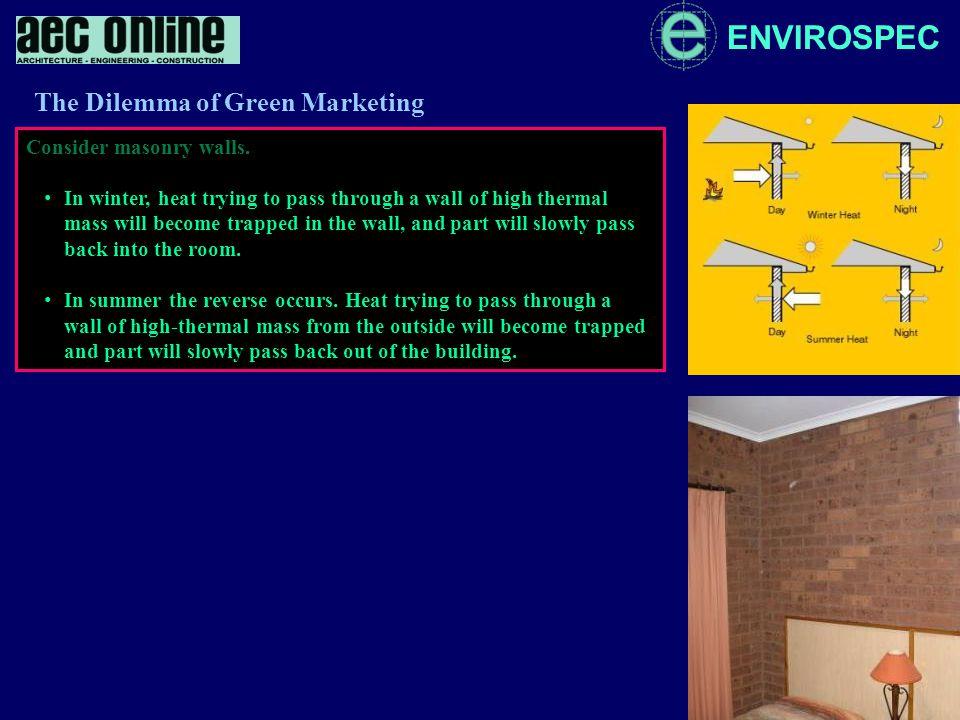 ENVIROSPEC Consider masonry walls.