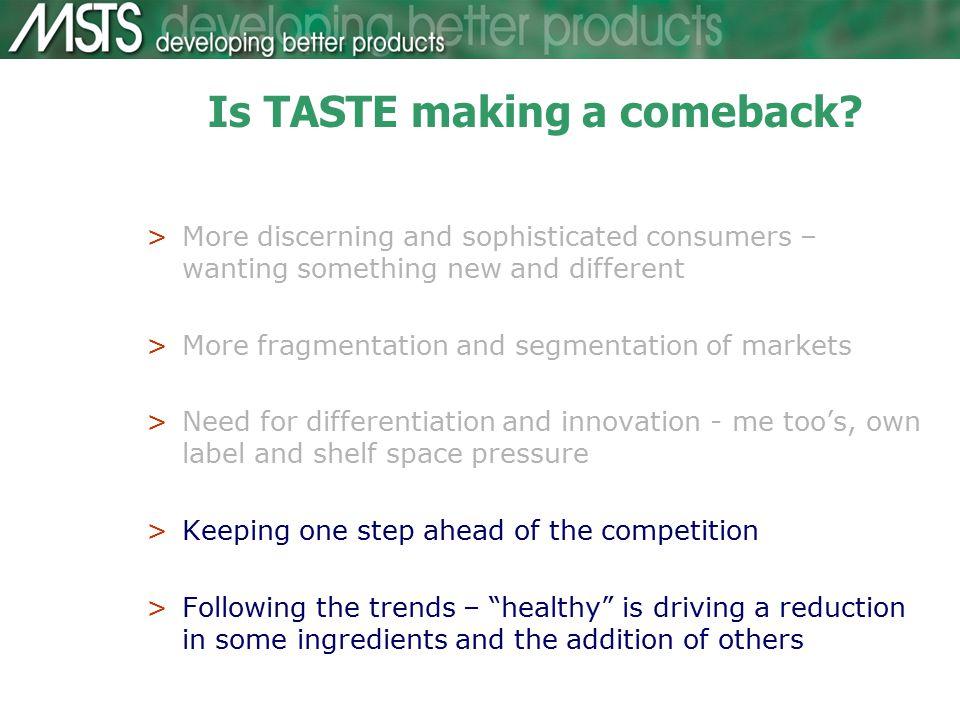 Is TASTE making a comeback.