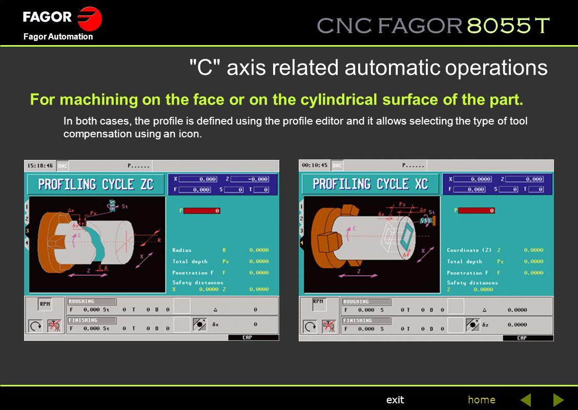 CNC FAGOR 8055 T home Fagor Automation exit