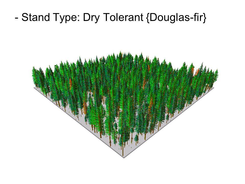 - Stand Type: Dry Tolerant {Douglas-fir}