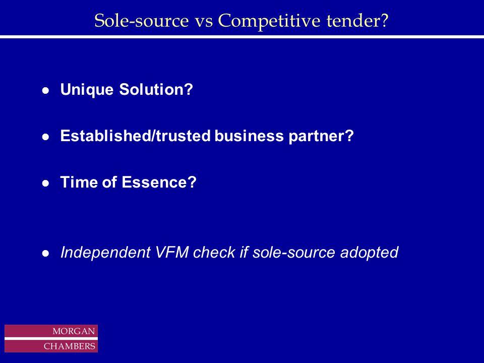http://www.sap.hp.com/public/ Sole-source vs Competitive tender.