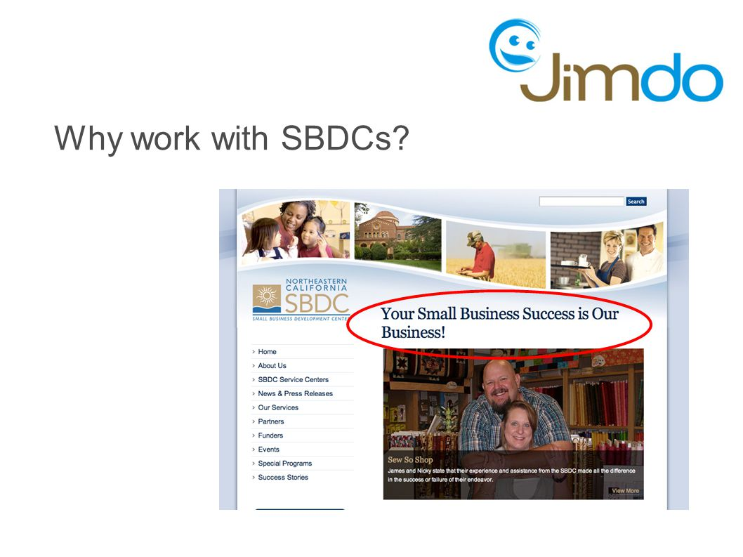Why work with SBDCs