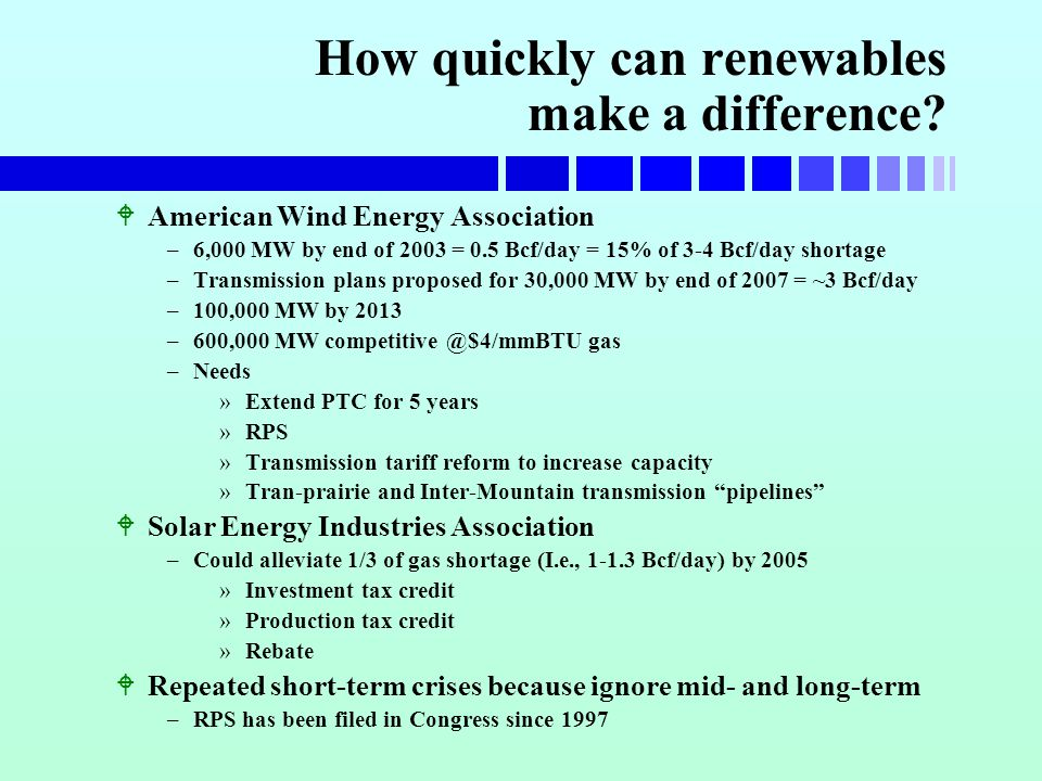 How quickly can renewables make a difference.