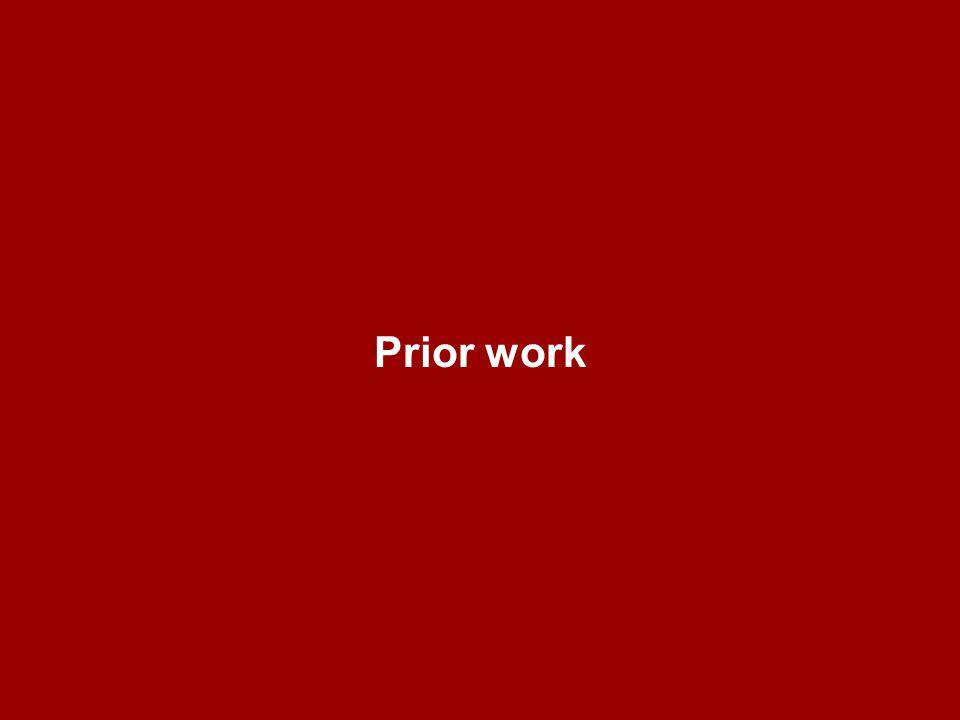 Prior work