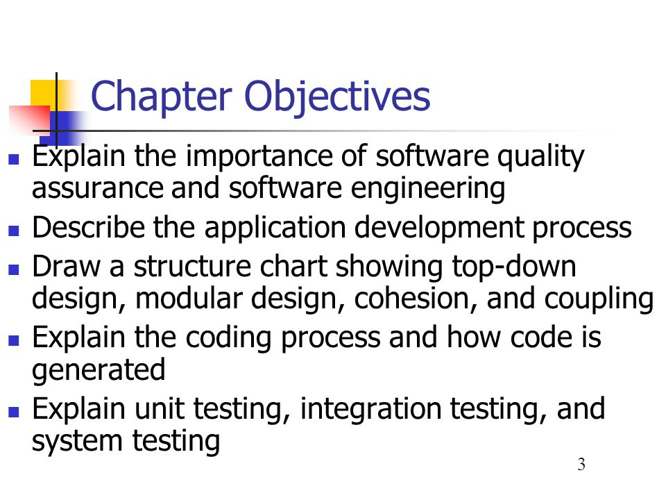 4 Chapter Objectives Differentiate between program, system, operations, and user documentation List the main steps in system installation and evaluation Develop an overall training plan with specific objectives for each group of participants, compare in-house and outside training providers, and describe effective training techniques