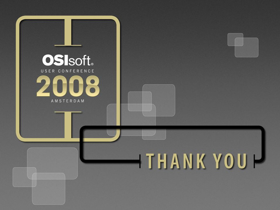 37 © 2008 OSIsoft, Inc. | Company Confidential
