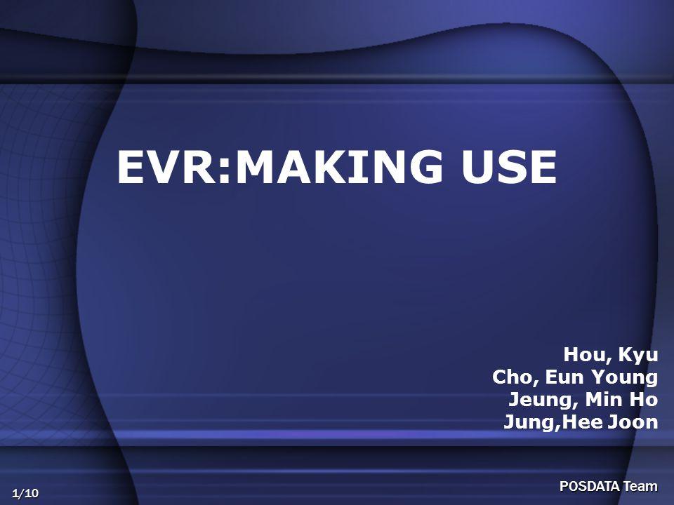 1/10 POSDATA Team EVR:MAKING USE Hou, Kyu Cho, Eun Young Jeung, Min Ho Jung,Hee Joon