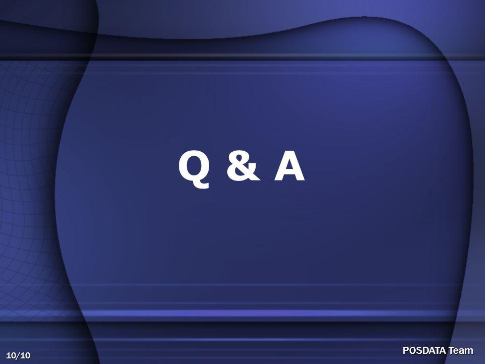 10/10 POSDATA Team Q & A