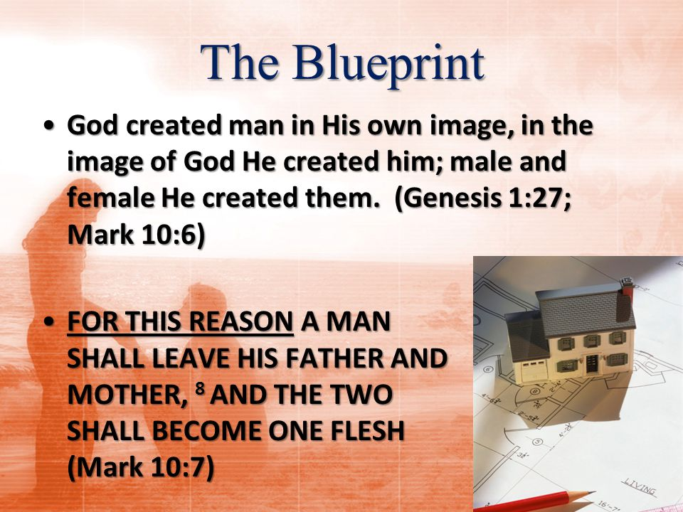 Summary Marriage according to God's blueprint: Principle #1: Marriage is a heterosexual, exclusive, monogamous relationship.Principle #1: Marriage is a heterosexual, exclusive, monogamous relationship.