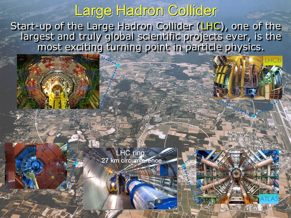 T.Strizh (LIT, JINR) Large Hadron Collider Start-up of the Large Hadron Collider (LHC), one of the largest and truly global scientific projects ever, is the most exciting turning point in particle physics.