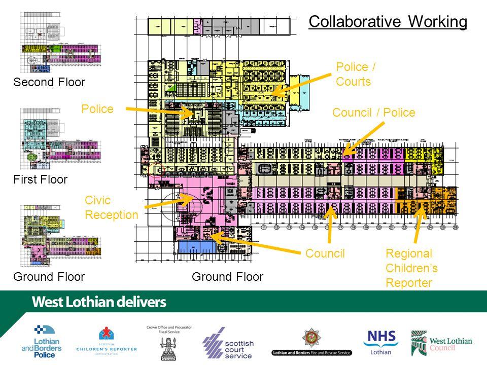 First Floor Second Floor First Floor Ground Floor Courts Council Collaborative Working
