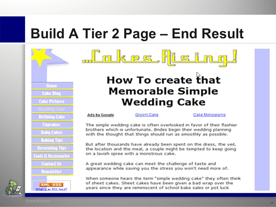 Sitesell Education 27 Build A Tier 2 Page – End Result