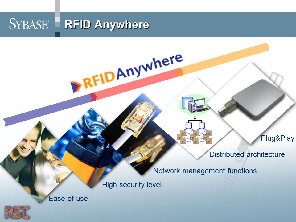 RFID Anywhere Plug&Play Ease-of-use High security level Network management functions Distributed architecture