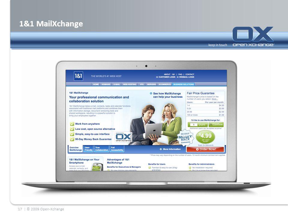 1&1 MailXchange | © 2009 Open-Xchange17
