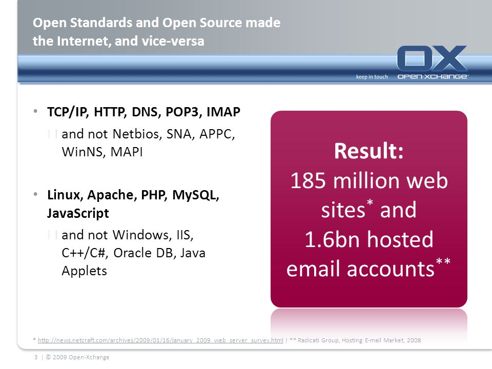 Open Standards and Open Source made the Internet, and vice-versa TCP/IP, HTTP, DNS, POP3, IMAP  and not Netbios, SNA, APPC, WinNS, MAPI Linux, Apache