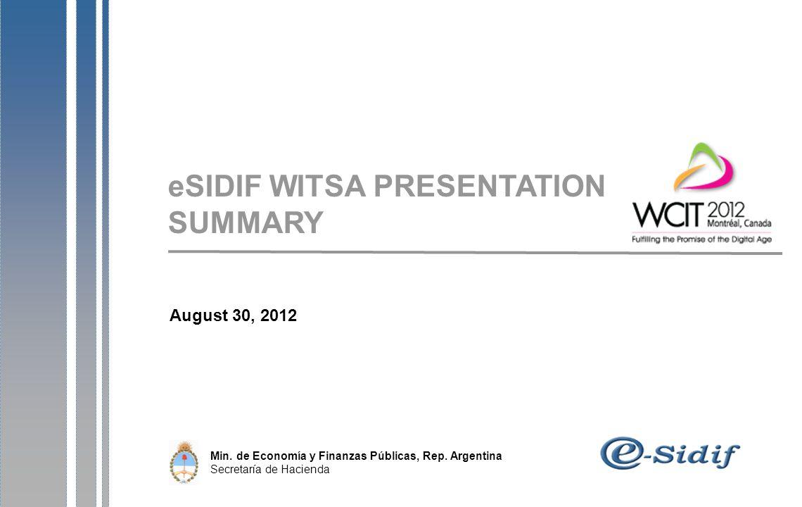 August 30, 2012 Min. de Economía y Finanzas Públicas, Rep.