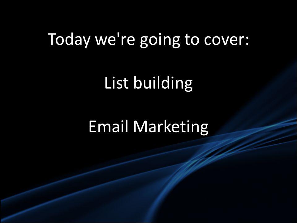 Pre qualify your list building traffic