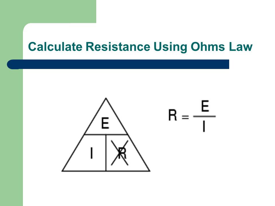 Calculate Voltage Using Ohms Law
