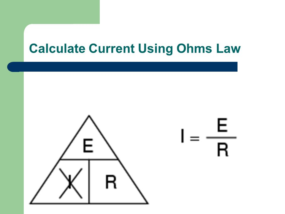 Calculate Resistance Using Ohms Law