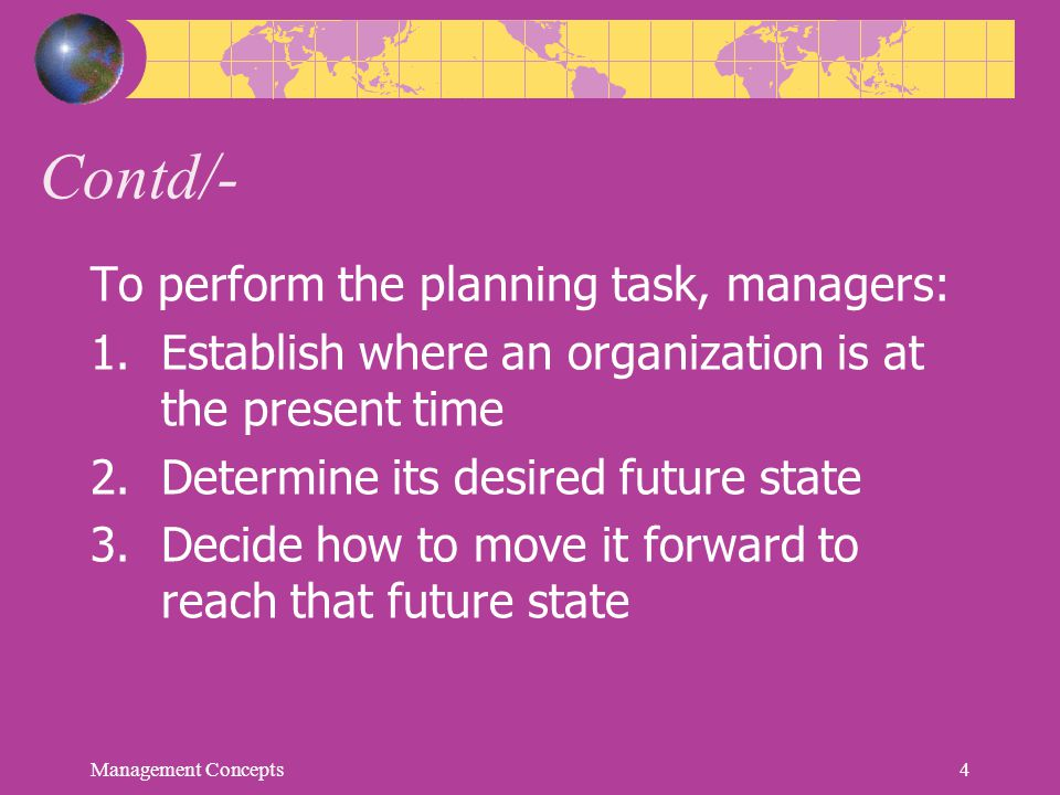 Steps in Goal Setting 1.Review the organization's mission statement.