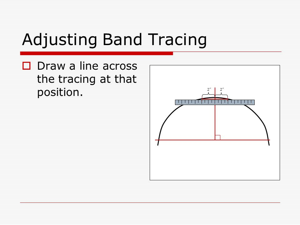 Adjusting Band Tracing  Draw a line across the tracing at that position. 2