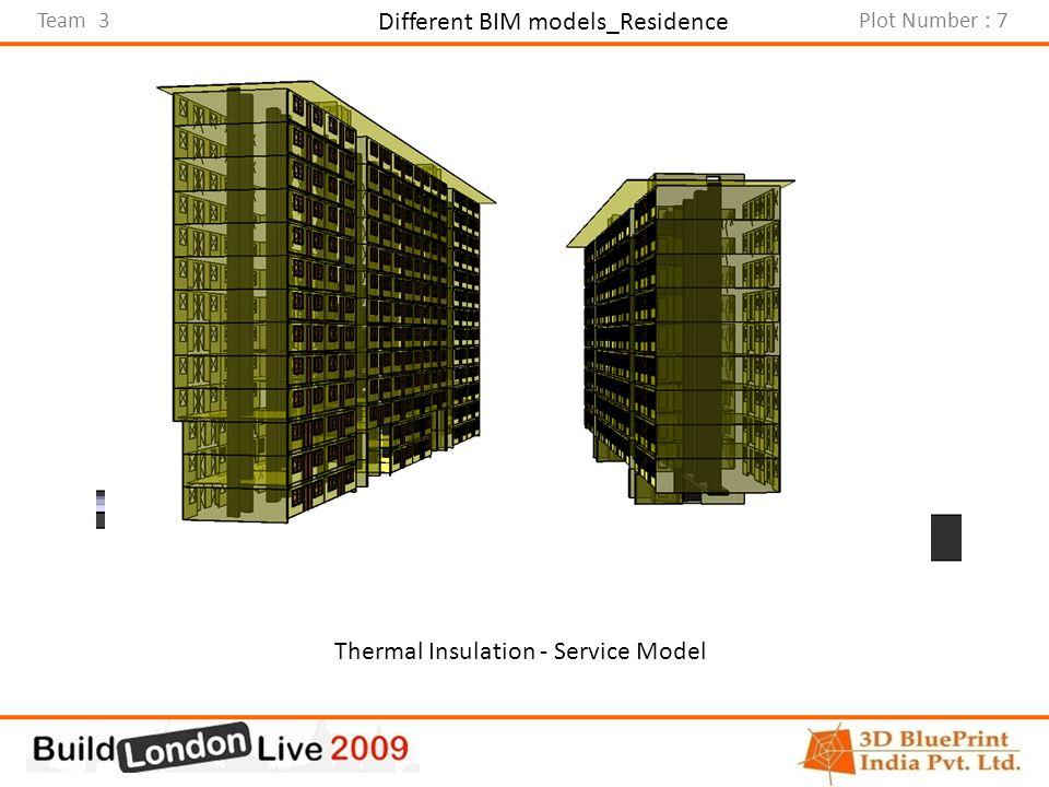 Team 3Plot Number : 7 Different BIM models_Residence Architectural ModelCivil ModelThermal Insulation - Service Model