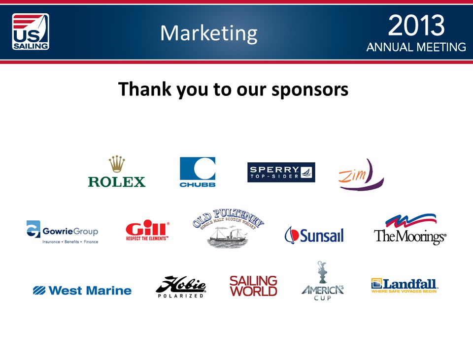 Marketing Thank you to our sponsors