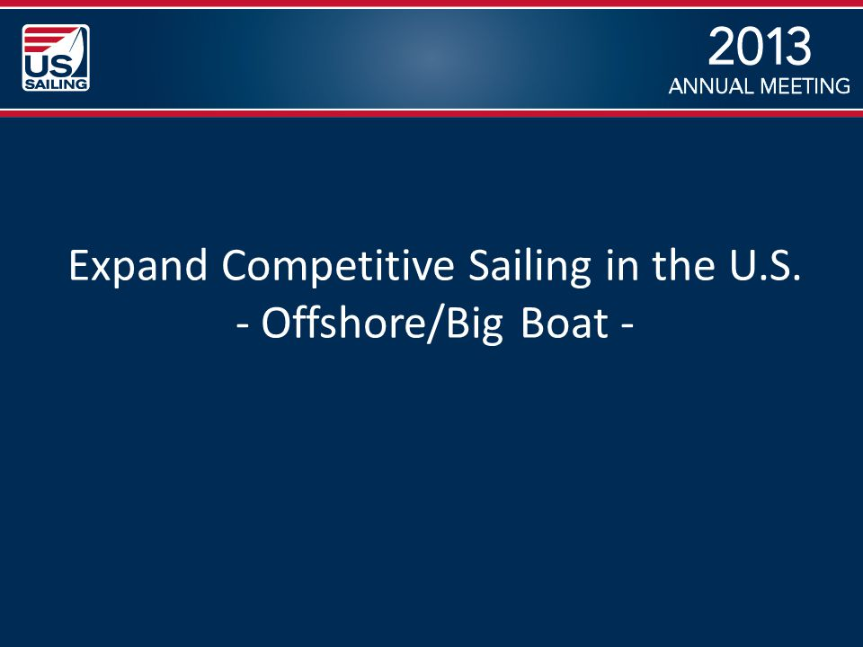 Expand Competitive Sailing in the U.S. - Offshore/Big Boat -