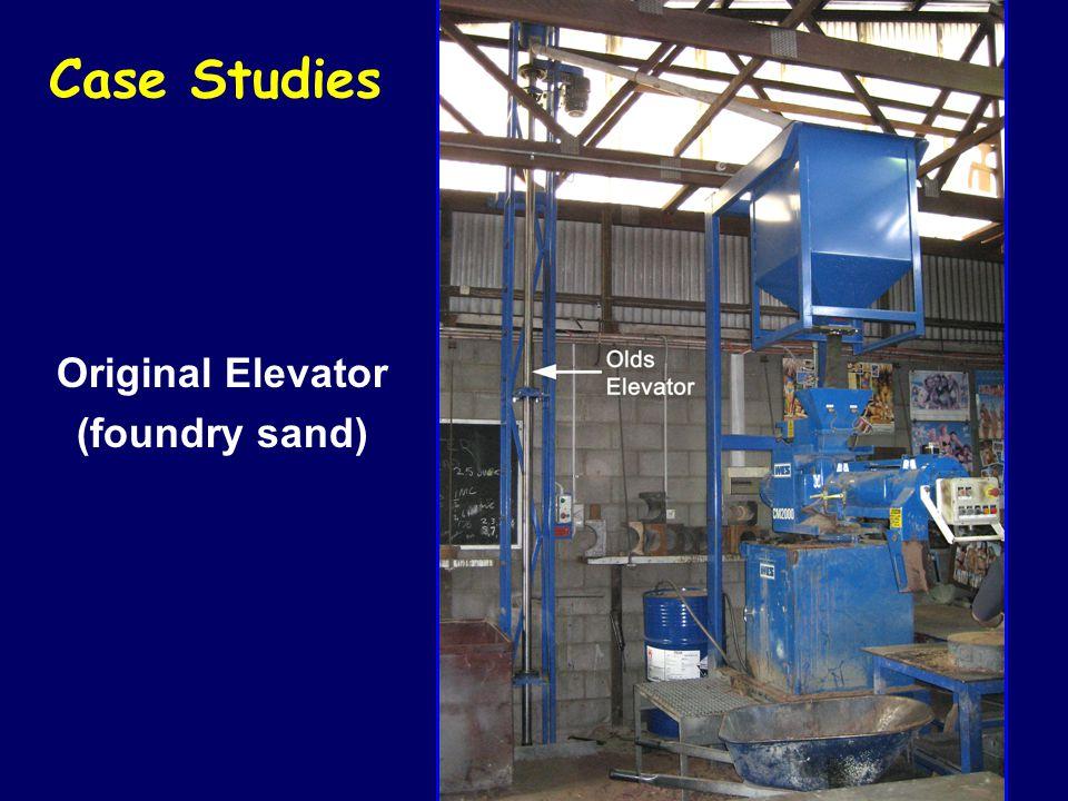 Case Studies Original Elevator (foundry sand)