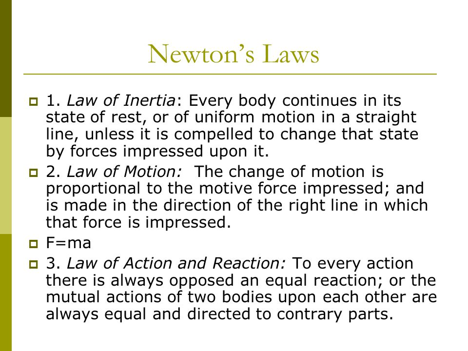 Newton's Laws  1.