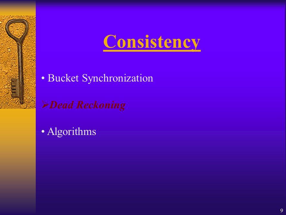 9 Consistency Bucket Synchronization  Dead Reckoning Algorithms