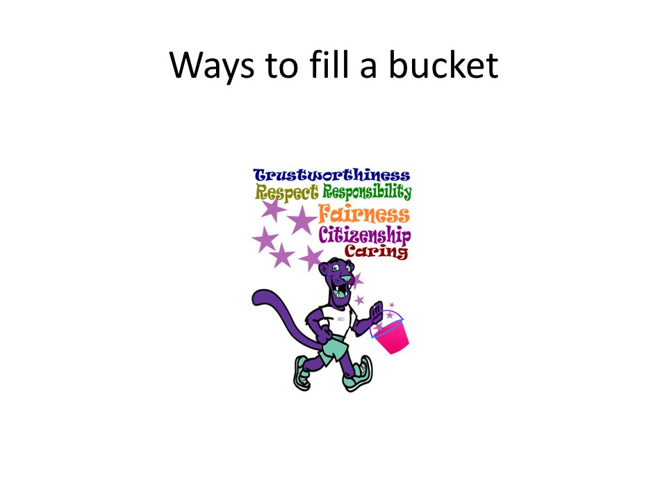 Ways to fill a bucket